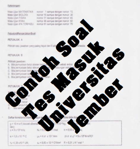 Contoh Soal Tes Masuk Universitas Jember