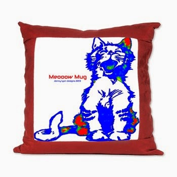 Funny Hello Meoow Suede Pillow