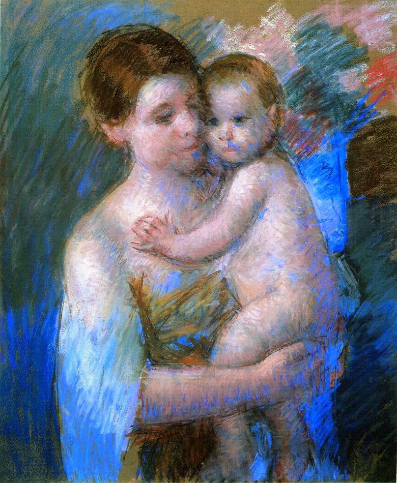 Mãe com Seu Bebê - Pinturas de Mary Cassatt | Mulheres na pintura
