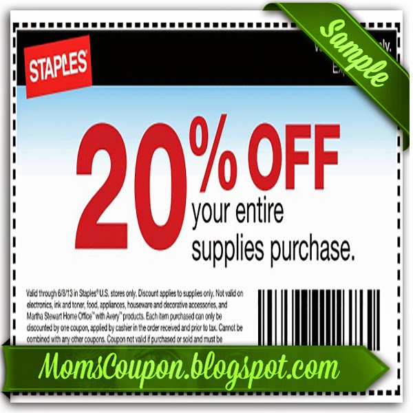 staples and coupons