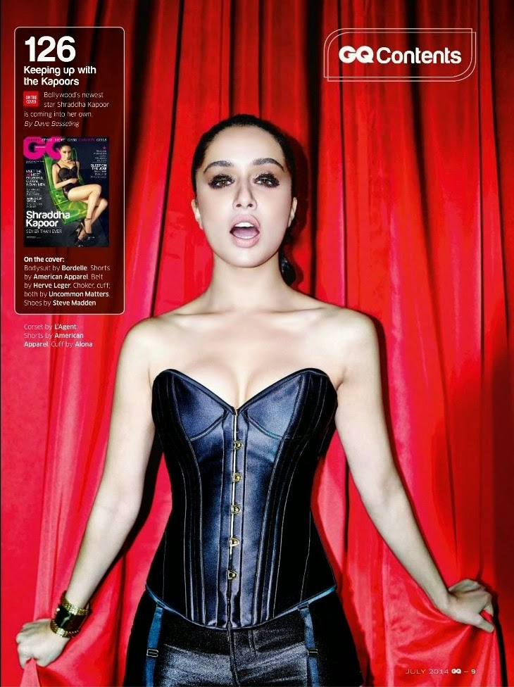 Sexy Shraddha Kapoor in corset looking hot