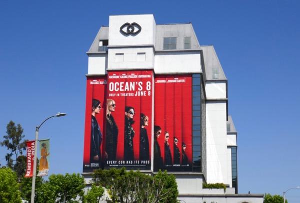 Oceans 8 movie billboard