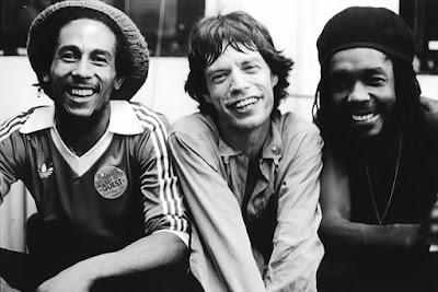 Bob Marley, Mick Jagger y Peter Tosh
