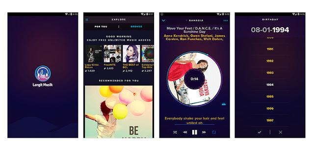 review aplikasi langit musik