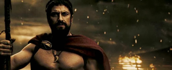 Screen Shot Of Hollywood Movie 300 (2006) In Hindi English Full Movie Free Download And Watch Online at worldfree4u.com