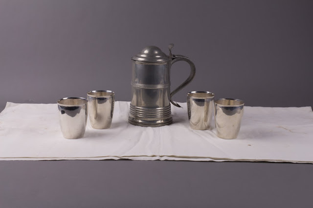 Queen Anne, communion set, 1st Parish Church, Salisbury, Massachusetts