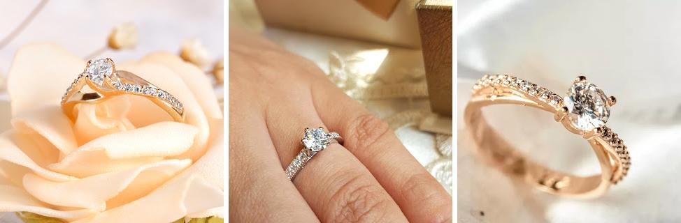 31ac93187ff Anéis de noivado de ouro  Meg Diamond - Holly Blanc - Penelope Diamond Rose