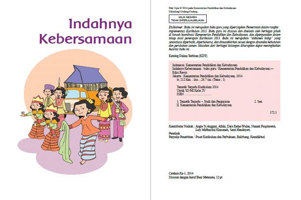 Download Buku Guru dan Buku Siswa Kurikulum 2013 Revisi Tahun 2016 untuk Kelas 1 dan 4 SD-MI