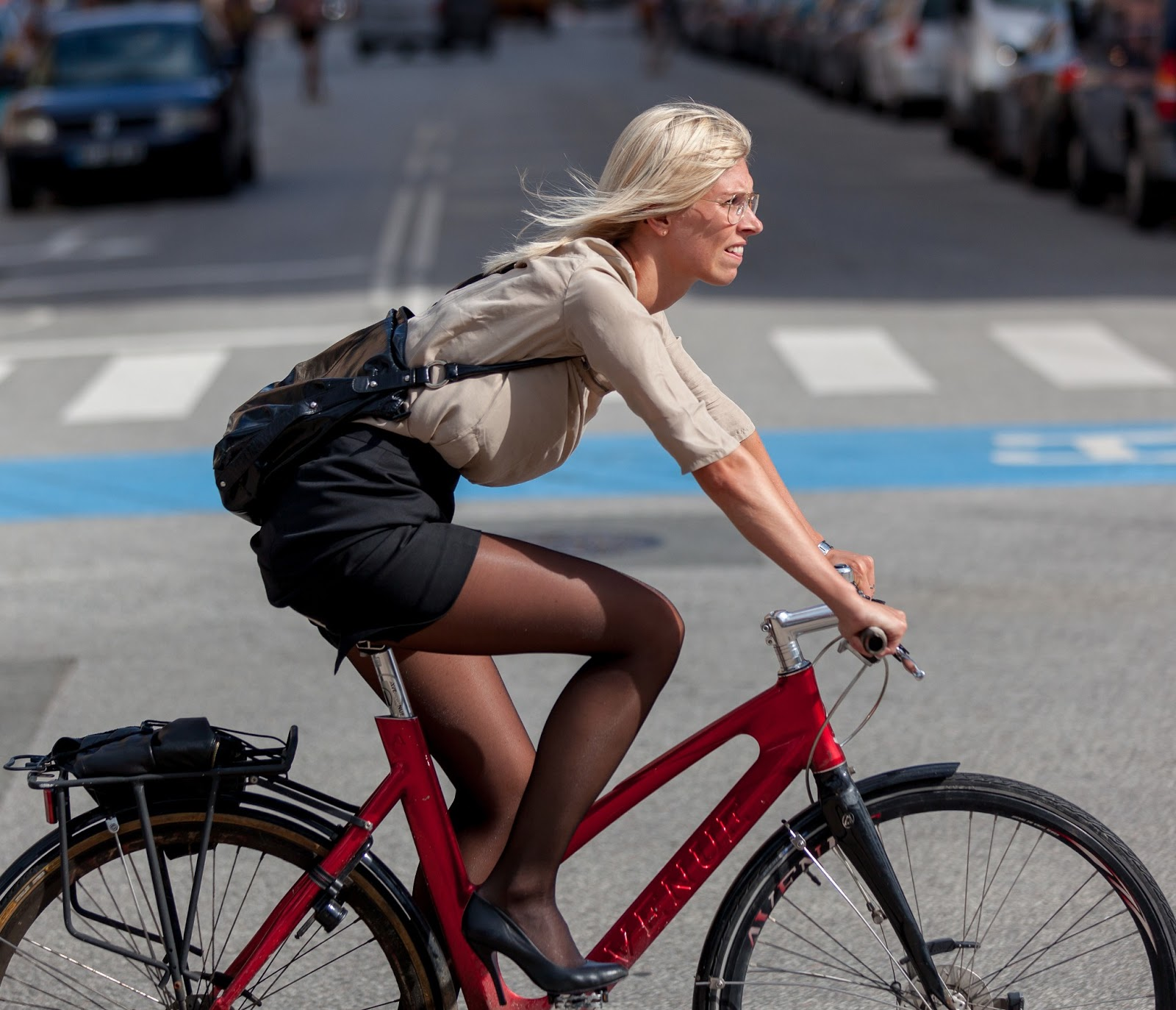 Foreign Woman Bike 46