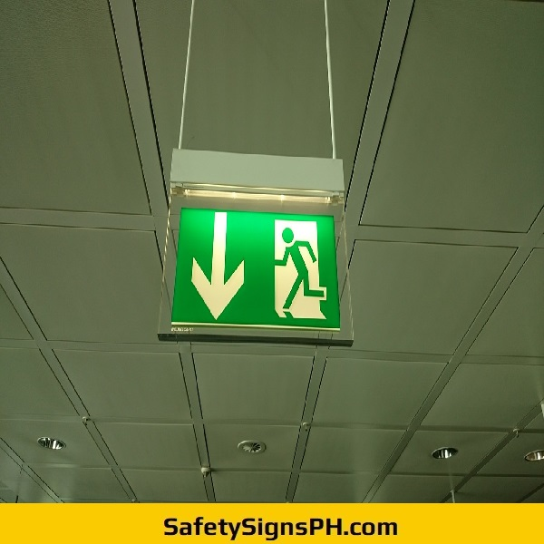 Running Man Emergency Exit Sign Philippines