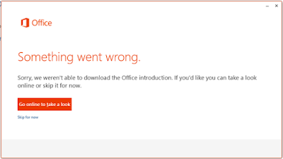 Something went wrong error of Office 365