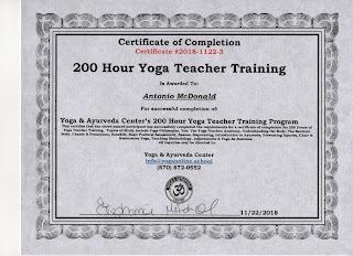 Online Yoga School Sample 200 Hour Yoga Teacher Training Certificate