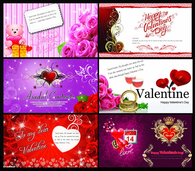 Valentine thiệp chúc mừng Download vector