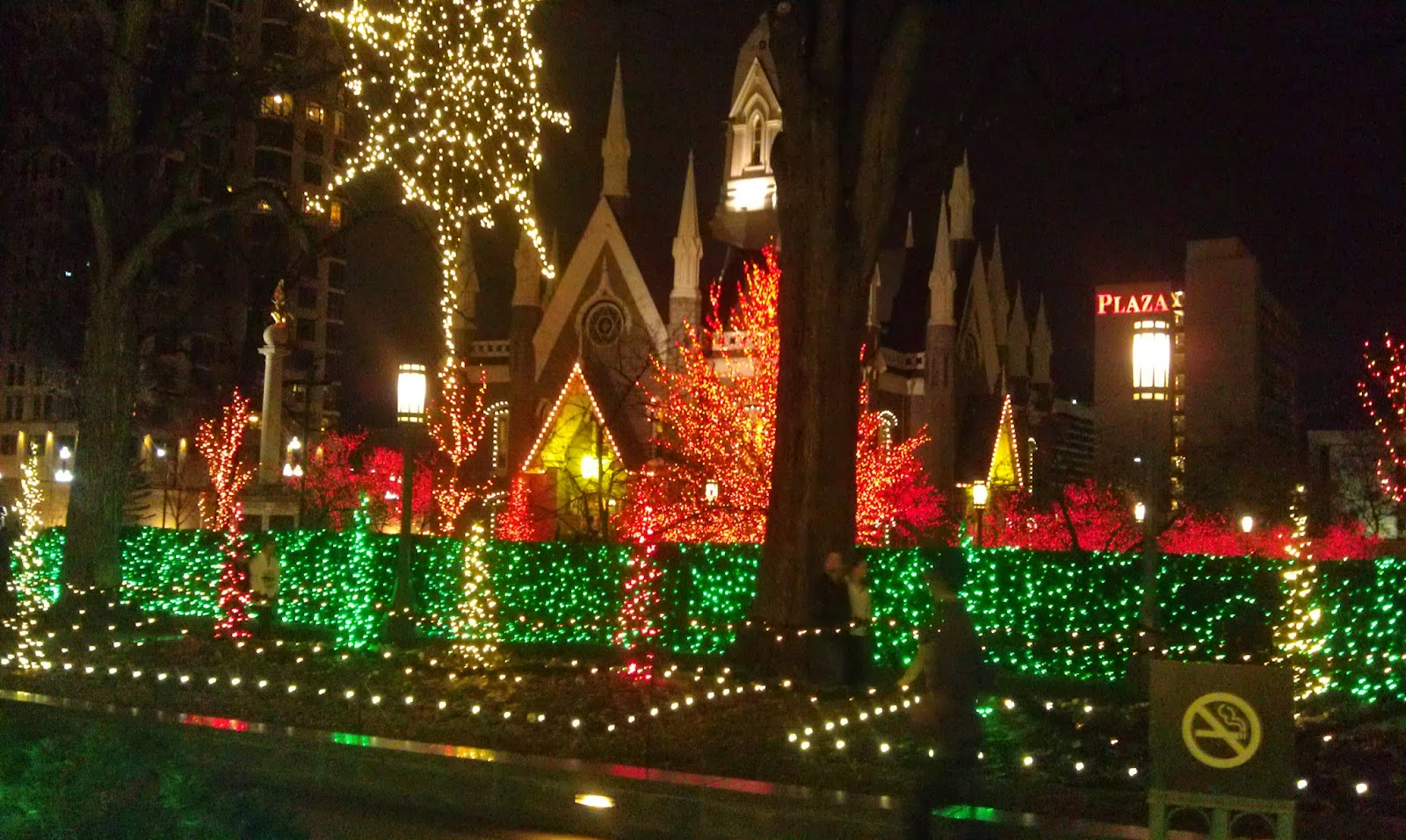 Temple Square Salt Lake City Christmas Lights.Running On Eddie Salt Lake City Temple Square Christmas Lights