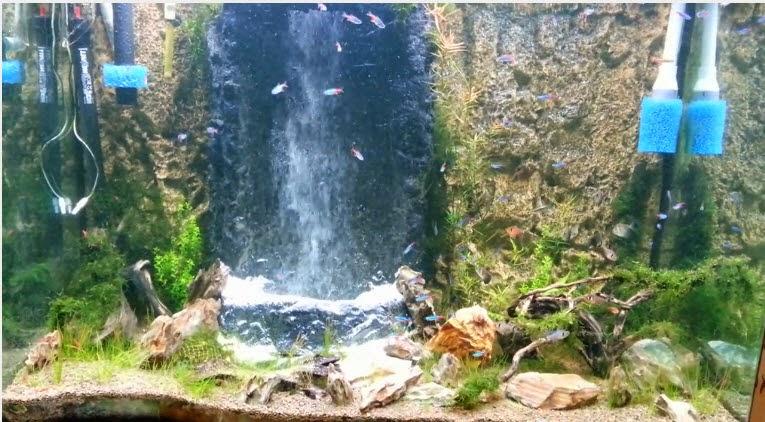 vinhaqua.com - Hồ thủy sinh trọn bộ - Suối thác 1