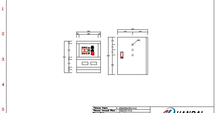 Gambar DOL Diagram menggunakan AUTOCAD