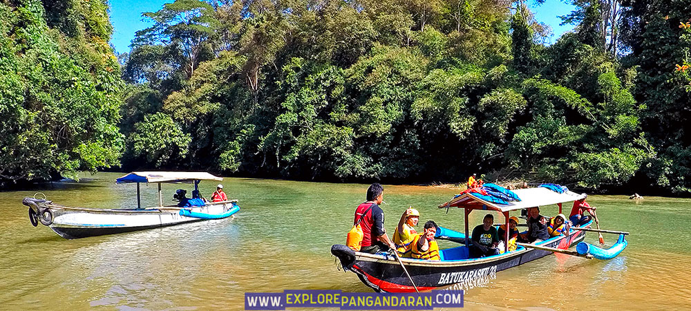 perahu body rafting green canyon