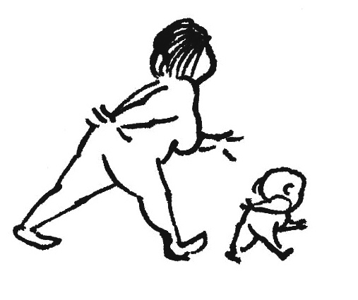 Mother & Child cartoon - Lagendyk