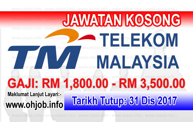 Jawatan Kerja Kosong TM - Telekom Malaysia logo www.ohjob.info disember 2017