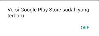 cara memperbaharui play store