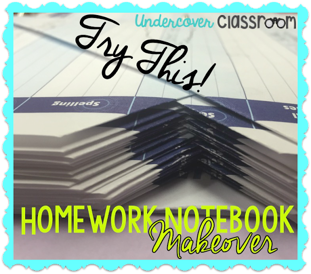 Teach your students how to make a diagonal fold on the used pages of their homework notebook so they can keep their place and easily find the next page.