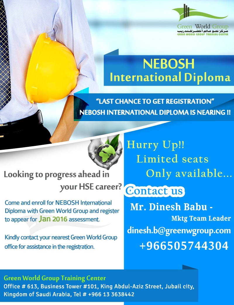Nebosh Training September 2015