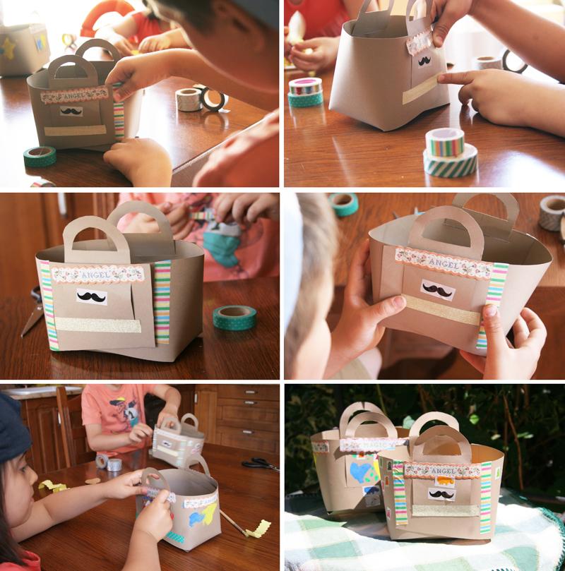 Decorar en familia_Taller de Creactividad: Diy cesta de picnic de cartón7