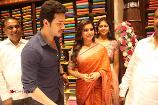 Actress Samantha Pictures in Saree at South India Shoping Mall Launch 0424