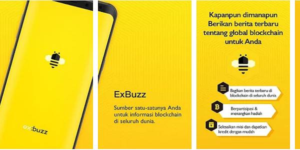 ExBuzz : Cara Mendapatkan Bitcoin Gratis dari Aplikasi ExBuzz Android