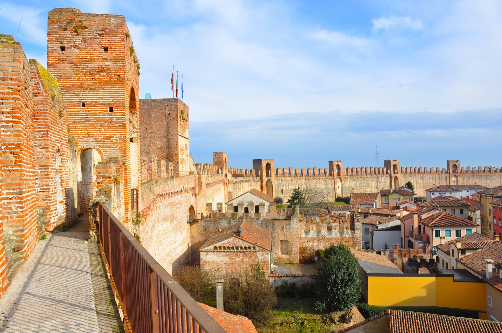 The wall surrounding the medieval town of Cittadella in Veneto, Italy
