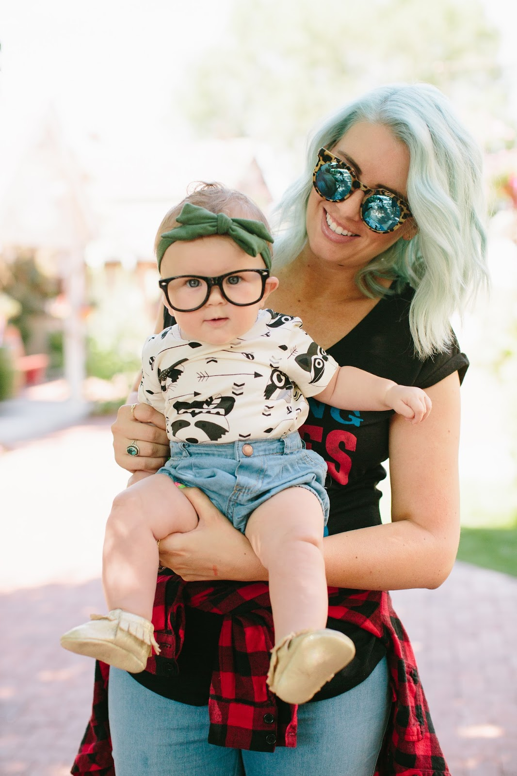 Mint Hair, Mommy and Me, Fancy Frogz