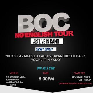 Event: BOC #NoEnglish Tour Kano!!! 9th July 2016   @BOCMadaki