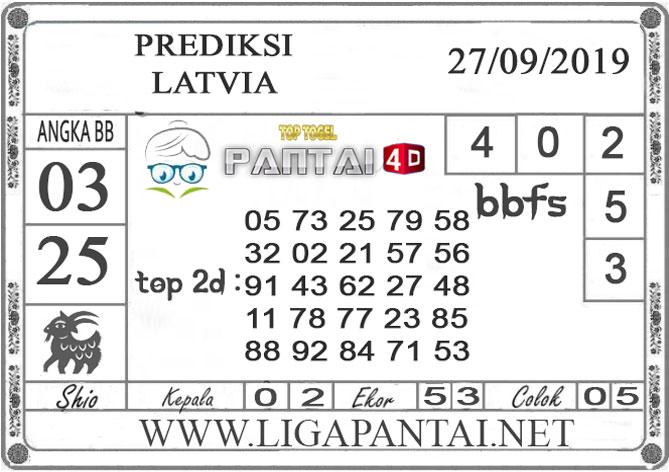 "PREDIKSI TOGEL ""LATVIA"" PANTAI4D 27 SEPTEMBER 2019"