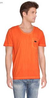 camiseta Diesel Naranja