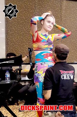 Body Painting MAC Cosmetics Jakarta