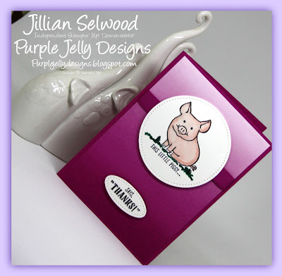 This little Piggy Stamp set, This little Piggy says Thank you, Stitched Shaped Framelits