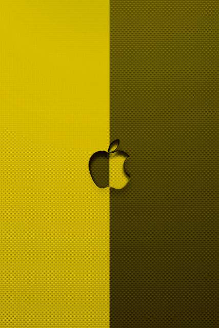 Invert Apple Logo iPhone Wallpaper By TipTechNews.com