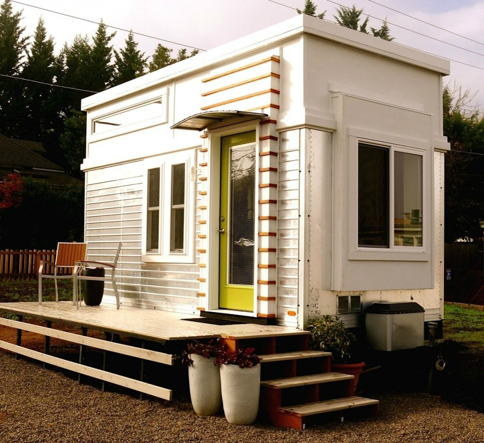 Tiny House Town Trailer Turned Tiny House 200 Sq Ft