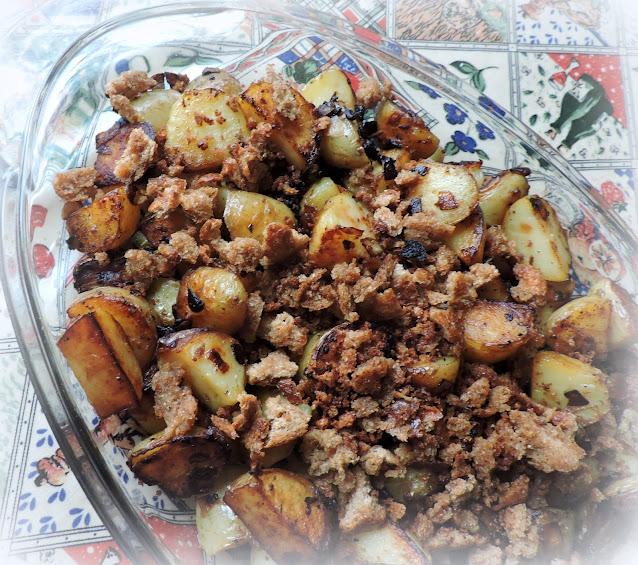 Bread Crumb Fried Potatoes