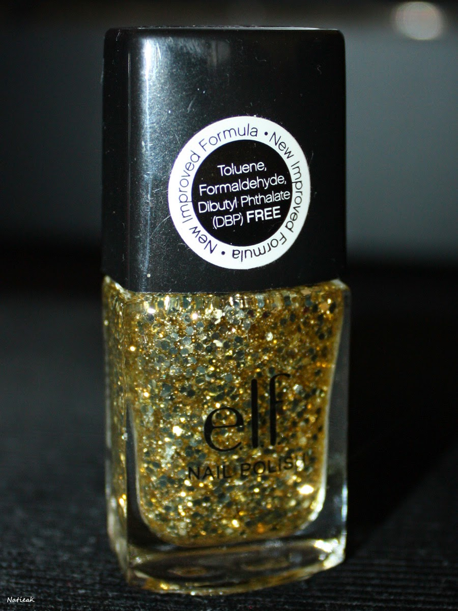 vernis à ongles E L F  Gold Star