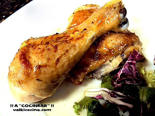 Muslos o traseros de pollo al horno