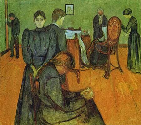 Morte na Enfermaria - Munch, Edvard esuas principais pinturas ~ Um grito de desespero existencial