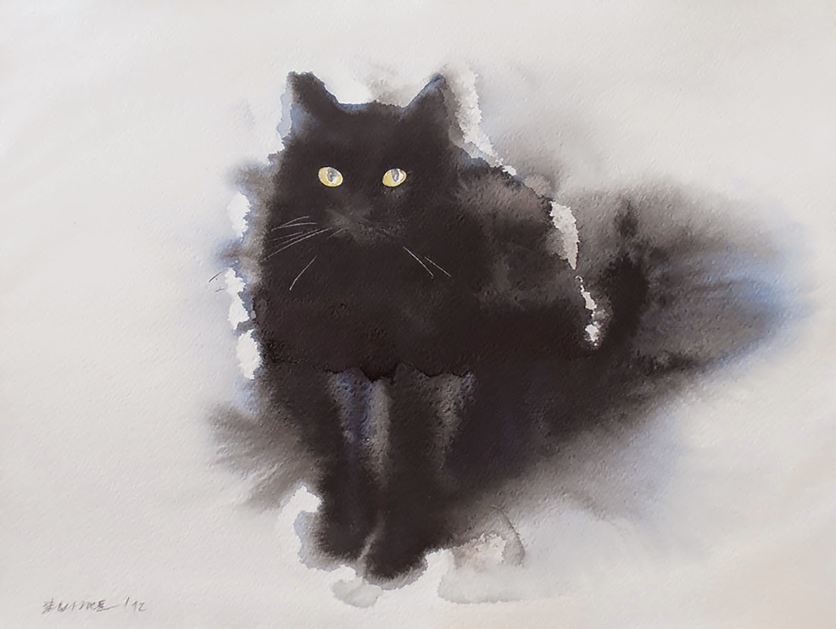 Simply Creative Watercolor And Ink Cats By Endre Penov 225 C