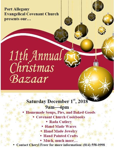 12-1 11th Annual Christmas Bazaar