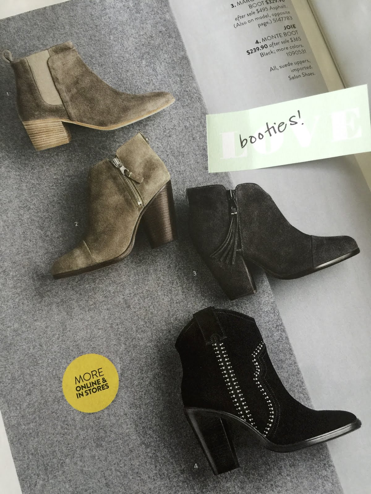 5f9f032e256 I'm loving these booties, but #2 (Rag & Bone) & #3 (Rag & Bone) look very  similar to my Sole Society booties already in my closet from last year and  they're ...