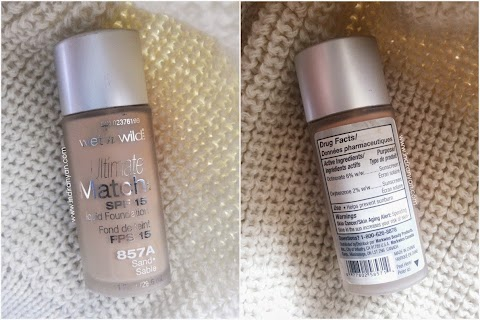 [REVIEW] Wet n Wild : Ultimate Match SPF15 Liquid Foundation - #857A Sand Sable