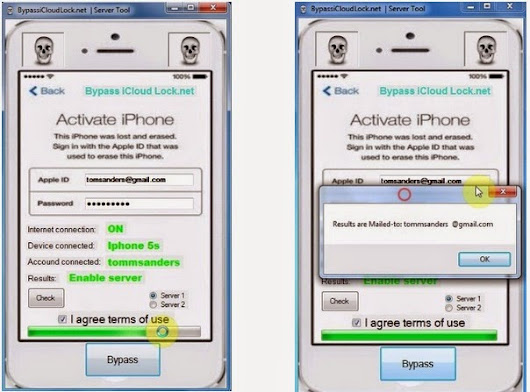 ICloud Bypass software tool iOS 8.1.2