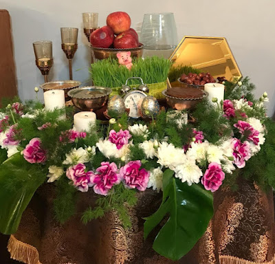 Setting the table of Haftsin in Iran is a common tradition.  Haftsin table includes seven items starting with the letter of 'S' or Sin in the Persian language. Each element has unique symbolic significance which we briefly explain below: