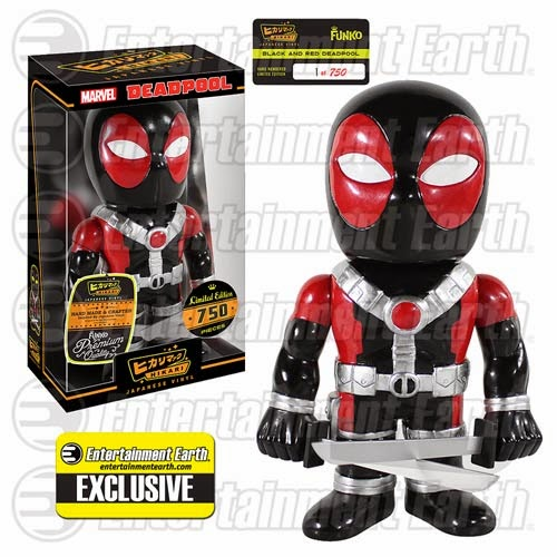 "Entertainment Earth Exclusive ""Black & Red"" Deadpool Premium Hikari Sofubi Vinyl Figure by Funko"