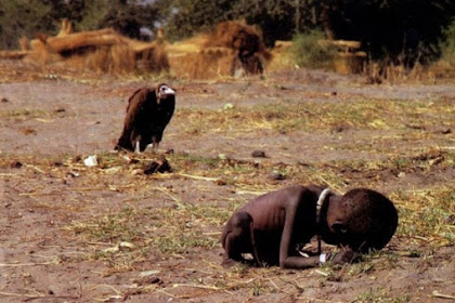 Kisah Tragis Di Balik Foto Gadis Kelaparan Yang Ditunggu Burung Pemakan Bangkai